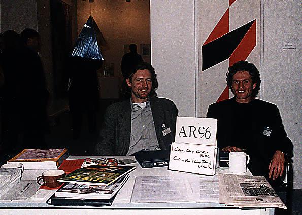 Galeristen Gunar Barthel + Tobias Tetzner auf arco-messe