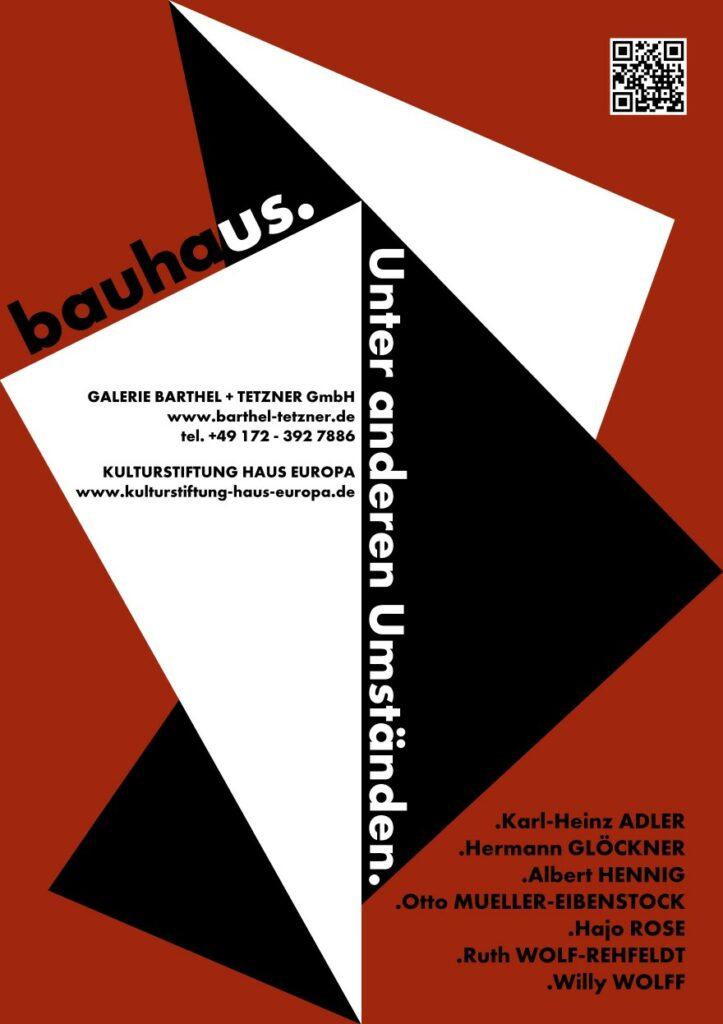 Bauhaus Unter anderen Umständen Ausstellungsplakat