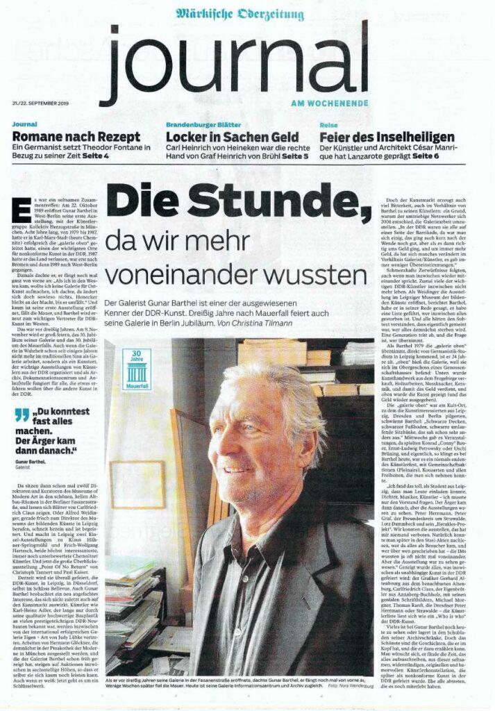 Kenner DDR-Kunst Gunar Barthel Jubiläum