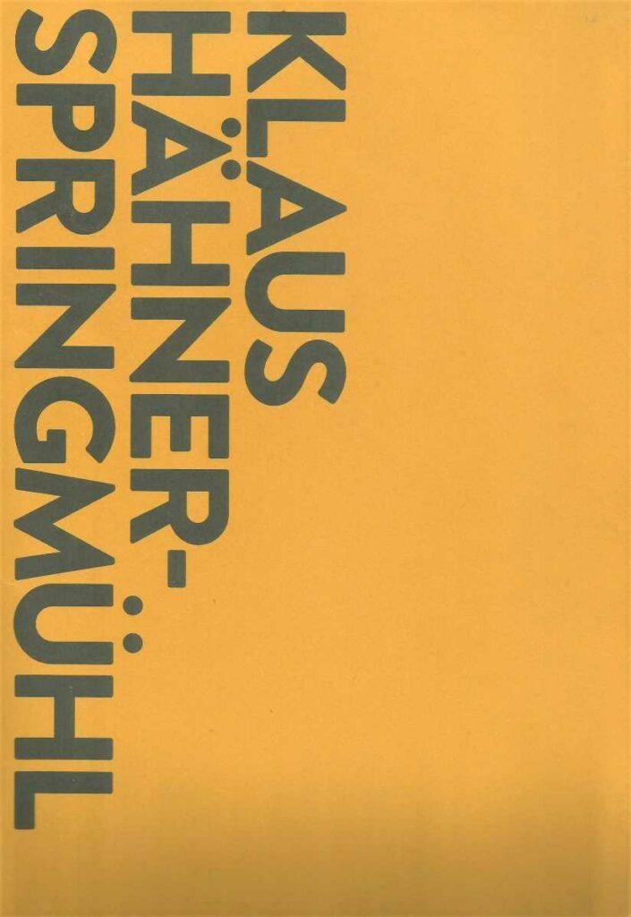 nonkonfomre Kunst aus der DDR Klaus Hähner-Springmühl