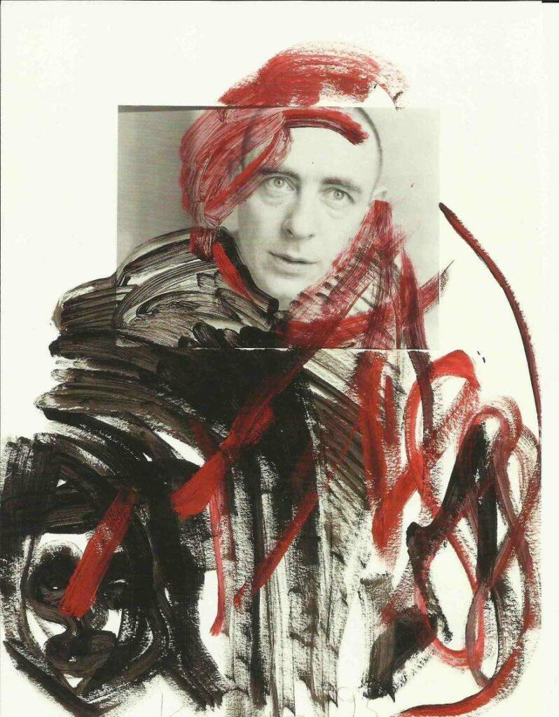 Klaus Hähner-Springmühl Selbstporträt Collage Fotoübermalung